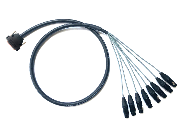 Sommer Cable Mistral Multipair MCF08 8-Multicore (8 x XLRF -> DSUB25), 1m