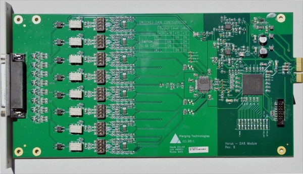 Merging Technologies IOM-H-DA8P Card for HORUS / HAPI