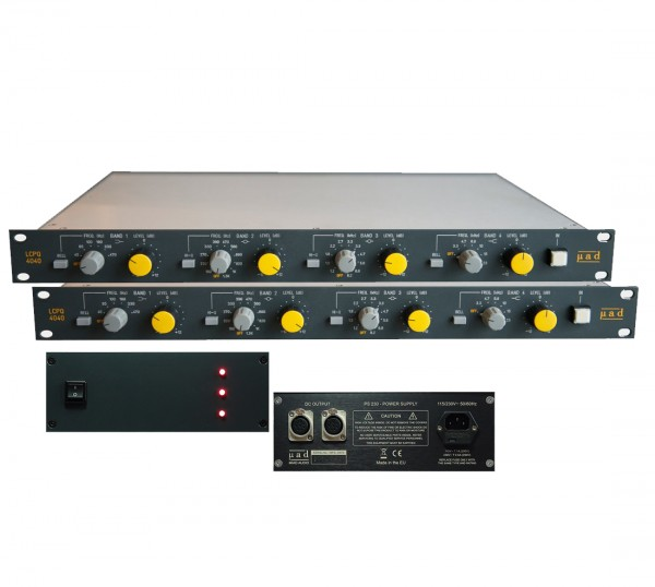MIAD Audio Stereo Bundle 2 Units LCPQ4040 + externe PSU front
