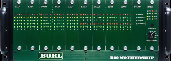Burl Audio B80 Mothership Rack mit BMB2 MADI