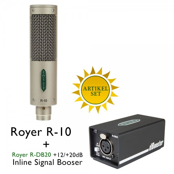 Royer R-10 plus Royer R-DB20 Signal Inline Booster