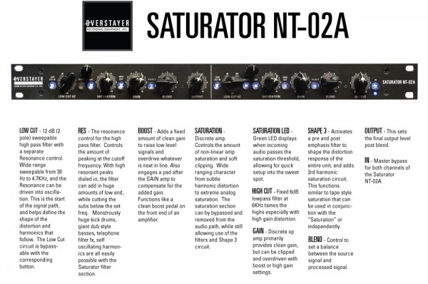 Overstayer Saturator NT-02A