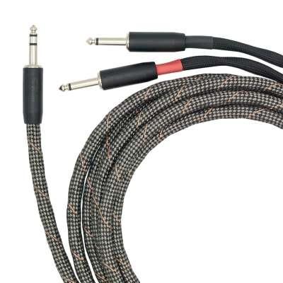 VOVOX sonorus protect A twin Dual-Kabel Stereo-Klinke zu 2 x Mono-Klinke 6m 6.3603