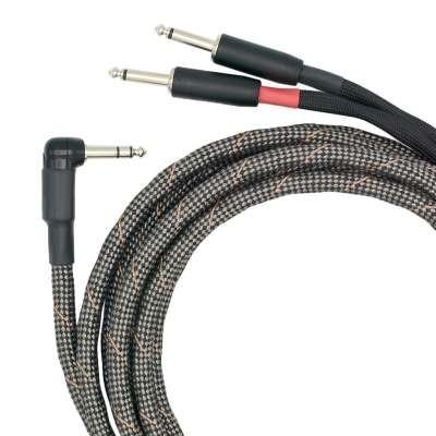 VOVOX sonorus protect A twin Dual-Kabel Stereo-Winkelklinke zu 2 x Mono-Klinke 3,5m 6.3602