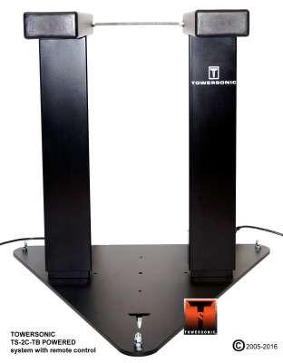Towersonic TS-2C-TB POW Motor-Monitorstativ Paar